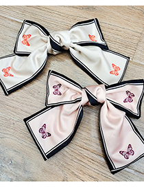 Fashion A Big Bow Fabric Printed Hairpin