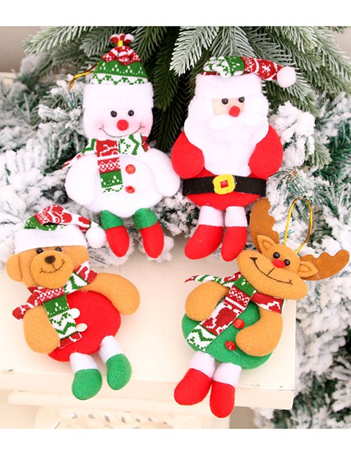 Fashion Bear Doll Hit Color Elk Old Man Christmas Tree Pendant