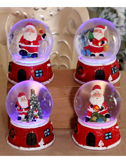 Fashion D Section Santa Claus Resin Music Glass Ball Charged