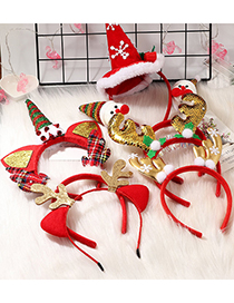 Fashion Antler Sequins Snowman Antlers Hat Fabric Christmas Headband