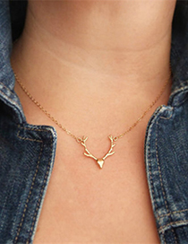Fashion Rose Gold Elk Stainless Steel Necklace
