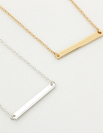 Fashion Gold Color One Word Bar Alloy Necklace