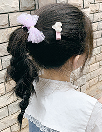 Fashion Blue Bow Hairpin + Navy Blue Hairpin Bowknot Net Yarn Five-pointed Star Love Children Hairpin Hair Rope