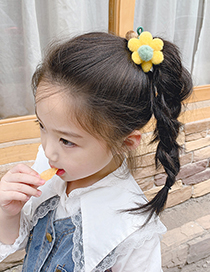 Fashion Blue Flower Hair Ball Hitting Color Knotted Childrens Hair Rope