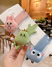Fashion Brown Fawn Fabric Alloy Animal Hairpin For Children