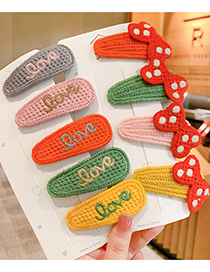Fashion Orange Bunny Ears Childrens Hairpin With Fruit Letters Bow Rabbit Ears Knitted