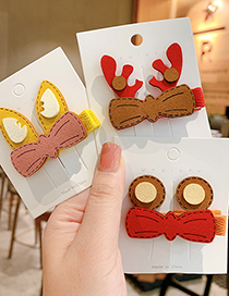 Fashion Christmas Antlers Animal Ears Color Frosted Child Hairpin