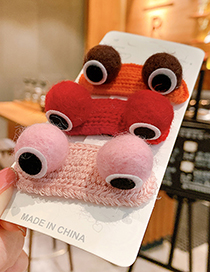 Fashion Pink Frog Little Frog Eyes Alloy Fabric Children Hairpin