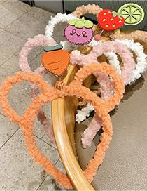 Fashion Plush Bunny Ears [pink] Plush Bunny Ears Fruit Bow Childrens Headband