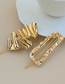 Fashion Gold Color Alloy Geometric Shape One-word Hairpin Set