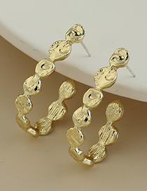 Fashion Gold Color Alloy Geometric Shape Ear Studs