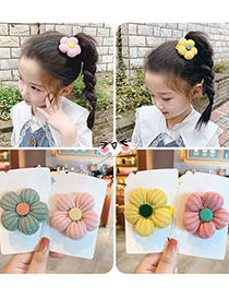 Fashion Yellow Flowers [hairpin] Knitted Woolen Flower Hairpin For Children