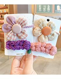 Fashion Green Bow Hairpin + Wool Hairpin Yarn Bowknot Small Flowers Children Hairpin Hair Rope