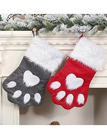 Fashion Gray Christmas Shaggy Dog ??paw Candy Bag