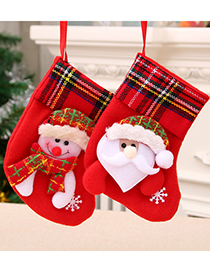Fashion Bear Christmas Christmas Stocking Elder Elk Children Gift Bag