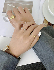 Fashion Opening Style-silver Color Color Leaf Alloy Opening Adjustable Ring