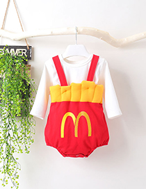 Fashion Sock French Fries Sling Baby One-piece Round Neck T-shirt Socks