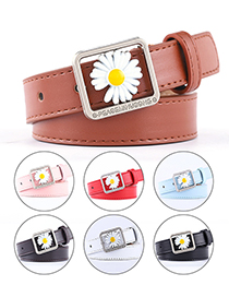 Fashion Sky Blue Daisy Oil Drip Alloy Jeans Belt