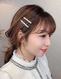 Fashion Silver Color Square Diamond Diamond-studded Geometric Alloy Hairpin