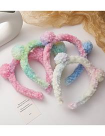 Fashion Pastel Lamb Hair Bear Ears Headband