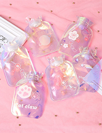 Fashion Cactus Laser Water Injection Letter Printing Transparent Hot Water Bottle