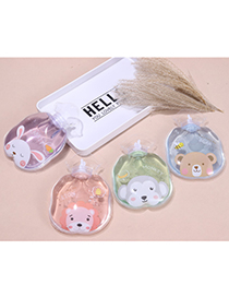 Fashion Cactus-4 Transparent Portable Water Injection Printing Hot Water Bottle