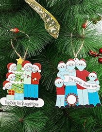 Fashion Type B Survivor Pendant Christmas Greetings For A Family Wooden Pendant
