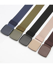 Fashion Coffee Canvas Men S Automatic Buckle Belt