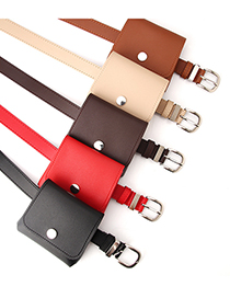 Fashion Camel Multifunctional Small Belt Bag With Japanese Buckle