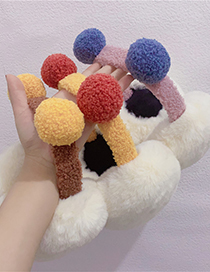 Calentador De Orejas De Cordero Pompon Ball Hit Color