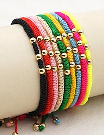 Fashion Black Gold-plated Acrylic Gold Beads Handmade Beaded Bracelet