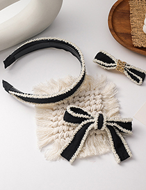 Fashion Bow Knot (hairpin) Bowknot Beaded Knotted Hairpin Headband