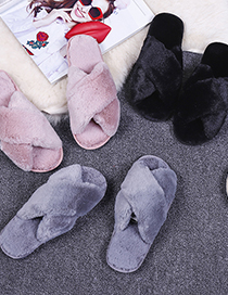 Fashion Pink Non-slip Indoor Cross-hair Slippers