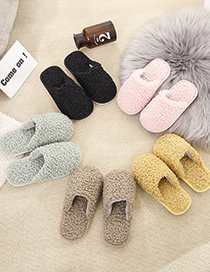 Fashion Yellow Lamb Wool Baotou Warm Indoor Children S Cotton Slippers