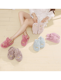 Fashion Daifen Bunny Plush Toe Slippers