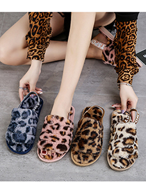 Fashion Brown Round Toe Low-heeled Flat And Velvet Snow Boots