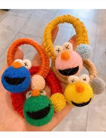 Fashion Green Sesame Street Wool Felt Handmade Cashmere Ball Big Eye Germination Rope