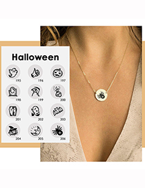 Fashion Steel Ghost Halloween Stainless Steel Ghost Ghost Geometric Necklace