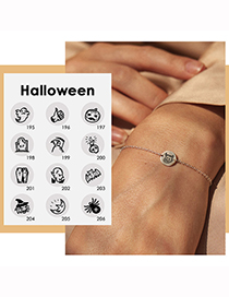 Fashion Rose Gold Color Book Halloween Stainless Steel Ghost Ghost Geometric Bracelet