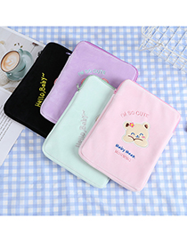 Fashion Pink Bear Letter Embroidery Tablet Bag