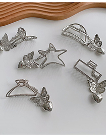 Fashion Rectangle Alloy Pendant Butterfly Love Cross Geometric Clamp