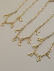 Fashion Lucky Alloy Letter Necklace