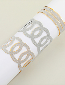 Fashion Gold Color Long Three-dimensional Cross Hollow Geometric Carved Bracelet