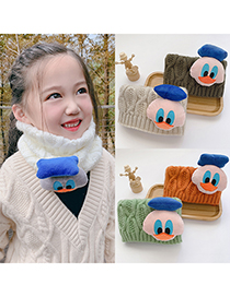 Fashion [brown] 6 Months-10 Years Old Little Duck Childrens Thick Scarf Collar
