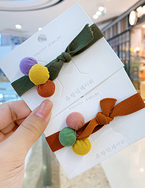 Fashion 【ginger Yellow】 Ball Hitting Color Knotted Childrens Hair Rope
