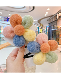 Fashion Cute Flowers [hair Rope] Flower Hit Color Childrens Hairpin Hair Rope