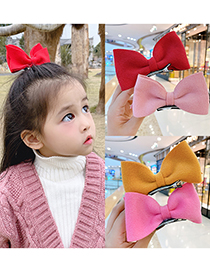 Fashion Gray Bow Hairpin Three-dimensional Butterfly Combined With Gold Childrens Hairpin