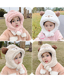 Fashion White Sheep Hat Circumference Is About 48cm-54cm Lamb Wool Sheep Children Hat And Scarf One