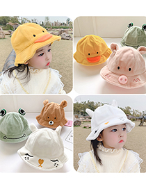 Fashion Bunny 1 To 6 Years Old Cap Circumference Is About 53cm Stuffed Piggy Embroidery Animal Fisherman Hat