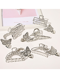 Fashion Chain Crescent Butterfly Pendant Alloy Geometric Clamp